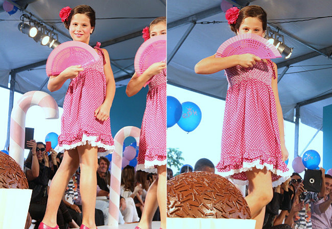 Sophia, de 9 anos, desfilou durante evento (Foto: Roberto Filho/AgNews)