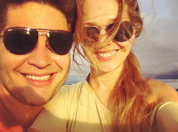 Pedro Leonardo e a mulher, Thais (Foto: Reprodução)