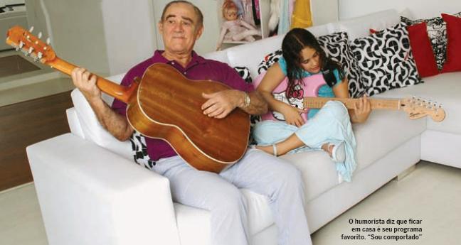 Renato Aragão e Livian (Foto: Eraldo Platz / Quem)