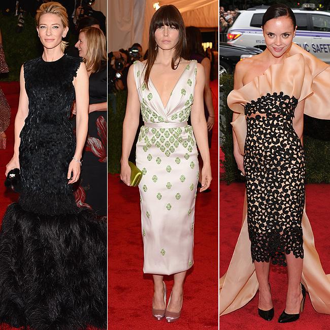 Cate Blanchett (à esq.), Jessica Biel (centro) e Christina Ricci (à dir.) (Foto: Getty Images)
