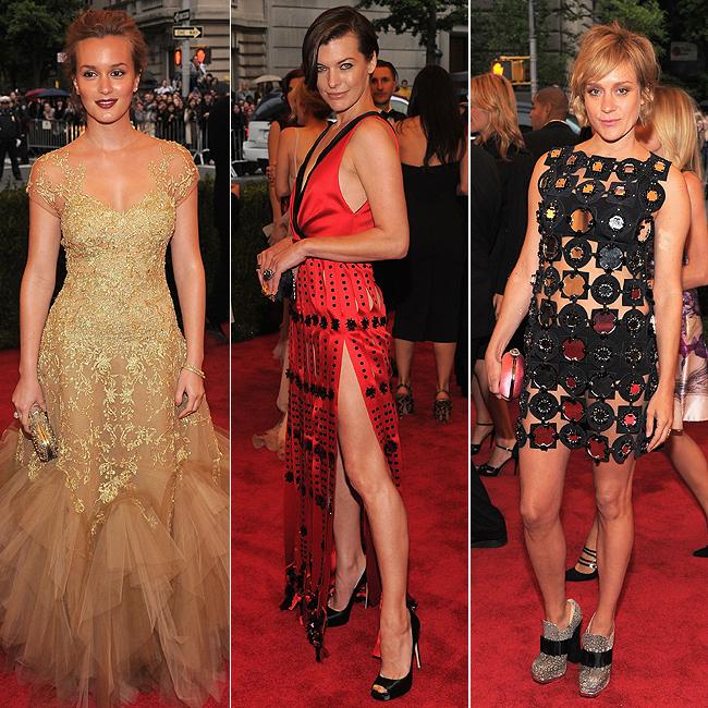 Leighton Meester (à esq.), Mila Jovovich (centro) e Chloé Sevgny (à dir.) (Foto: Getty Images)