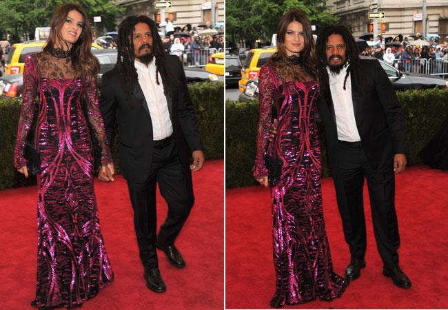 Isabeli Fontana e o noivo, Rohan Marley (Foto: Getty Images)