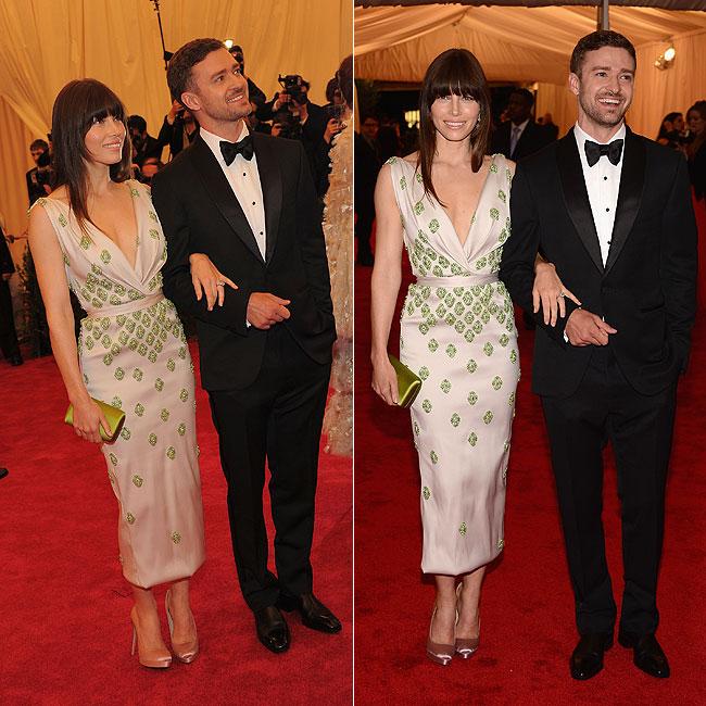 Justin Timberlake e a namorada, Jessica Biel (Foto: Getty Images)