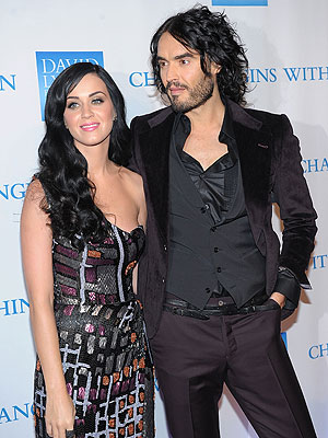 Katy Perry e Russell Brand (Foto: Getty Images)