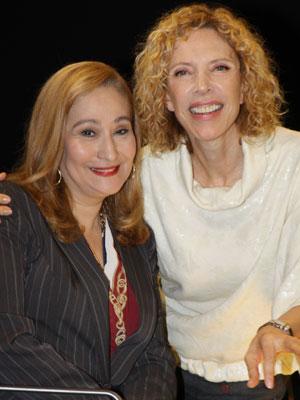 Sônia Abrão e Marília Gabriela (Foto: Divulgação/SBT)