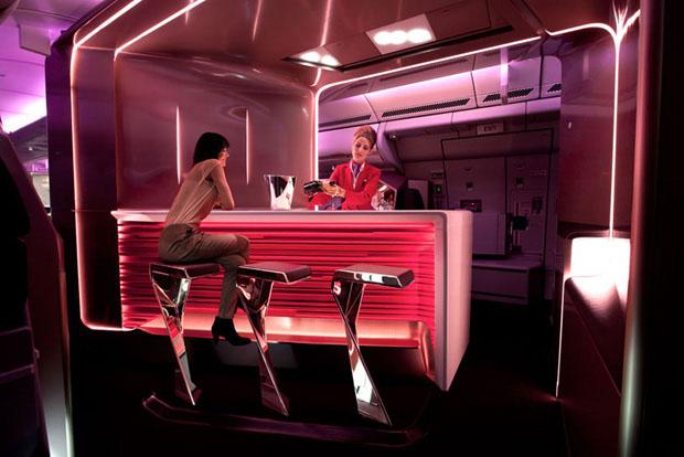 aviao_bar_cabine_virgin2012_01 (Foto: divulgação)