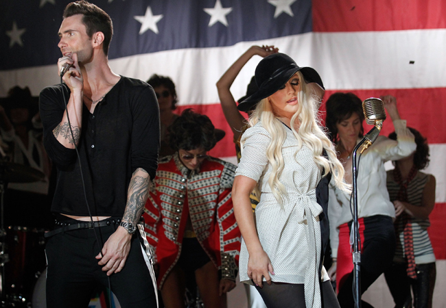 Christina Aguilera e Adam Levine (Foto: Getty Images)