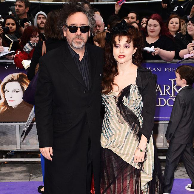 O diretor do longa, Tim Burton, e sua mulher, Helena Bonham-Carter (Foto: Getty Images)