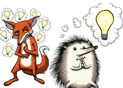 Raposa e porco-espinho (Foto: Reprodução/Thinkinginpublic)