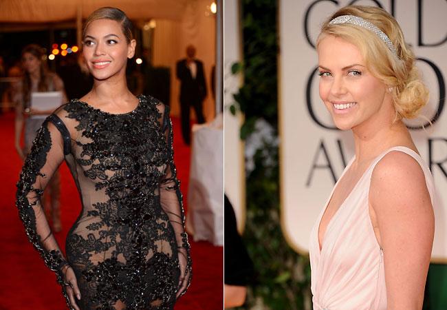 Beyoncé e Charlize Theron (Foto: Getty Images)