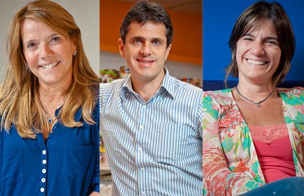 Sylvia Leão, Marcelo Bazzali e Luciene Schedenffeldt: diversos cargos sem sair do Grupo Pão de Açúcar (Foto: Christian Castanho)