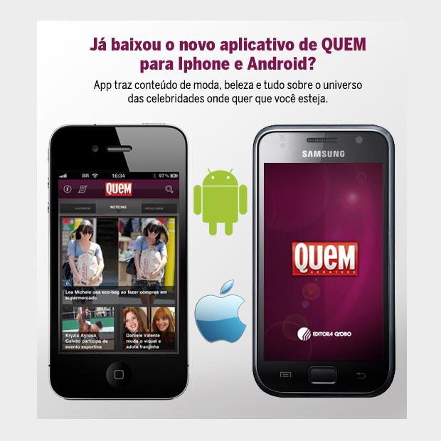 QUEM no celular (Foto: Revista QUEM)