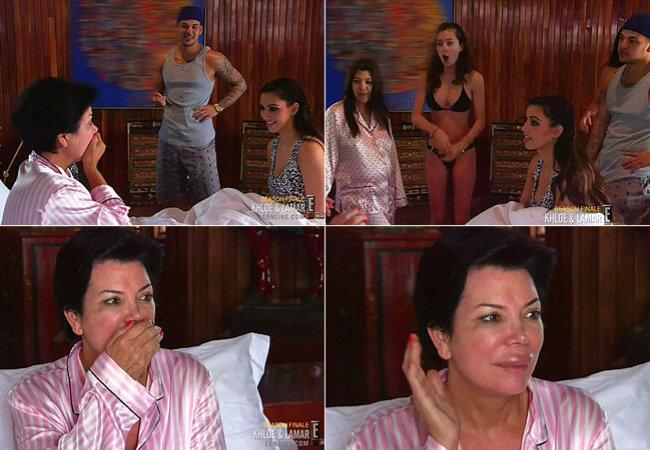 Empresária Kris Jenner aparecerá com os lábios completamente inchados em novo episódio de reality (Foto: Reprodução)