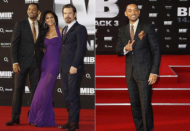 Will Smith (à esq e na foto solo), Nicole Scherzinger (centro) e Josh Brolin (à dir) (Foto: Getty Images)