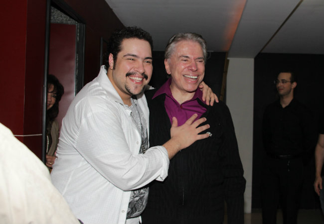 Tiago Abravanel e Silvio Santos (Foto: Milene Cardoso e Danilo Carvalho/ Agnews)