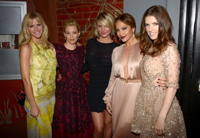 Brooklyn Decker, Elizabeth Banks, Cameron Diaz, Jennifer Lopez e Anna Kendrick (Foto: Getty Images)