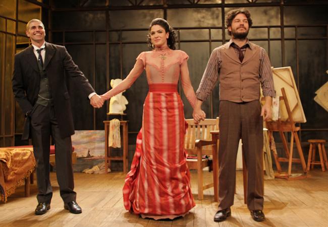 Reynaldo ao lado de Maria Manoela e Erik Marmo (Foto: Milene Cardoso/AgNews)