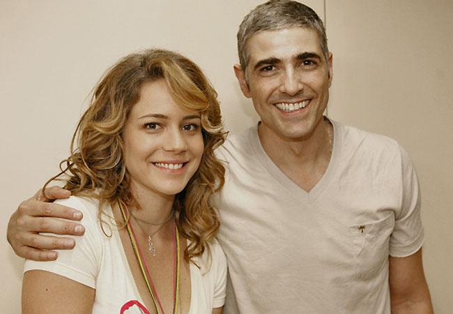 Gianecchini ao lado da atriz Leandra Leal (Foto: Divulgação/TV Globo)