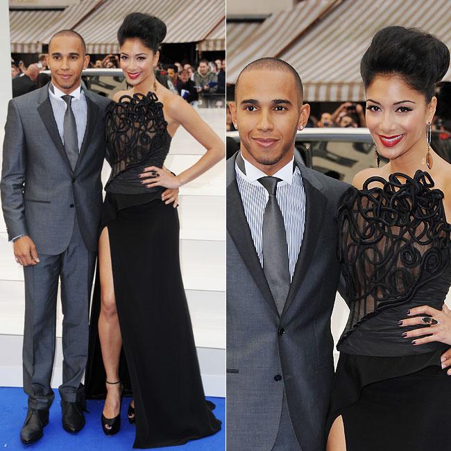 A cantora foi ao evento com o namorado, Lewis Hamilton (Foto: Getty Images)