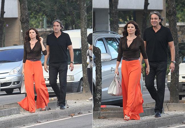 Débora Bloch e Alexandre Borges (Foto: Wallace Barbosa/AgNews)