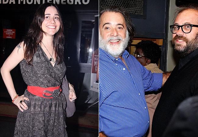 Alessandra Negrini (à esquerda) e Tony Ramos e Otávio Augusto (à direita) (Foto: Alex Palarea e Felipe Assumpção/AgNews)