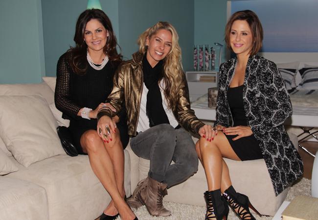 Sandra Boechat, Adriane Galisteu e Guilhermina Guinle (Foto: Milene Cardoso/AgNews)