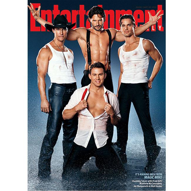 Matthew McConaughey, Channing Tatum, Matt Bomer e Joe Manganiello em capa de revista (Foto: Reprodução)