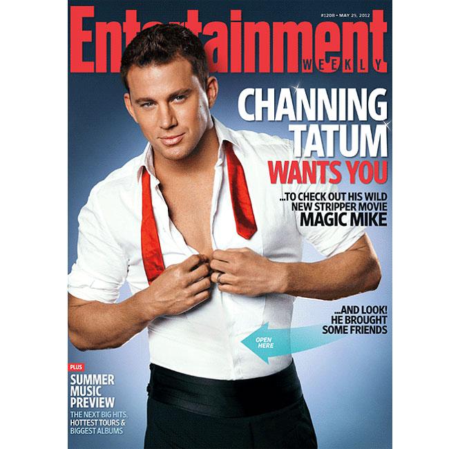 Channing Tatum aparece sozinho em capa alternativa de revista (Foto: Reprodução)