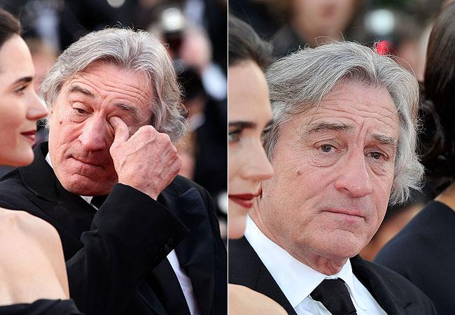 Robert De Niro se emocionou durante a exibição do clássico do cinema (Foto: Getty Images)