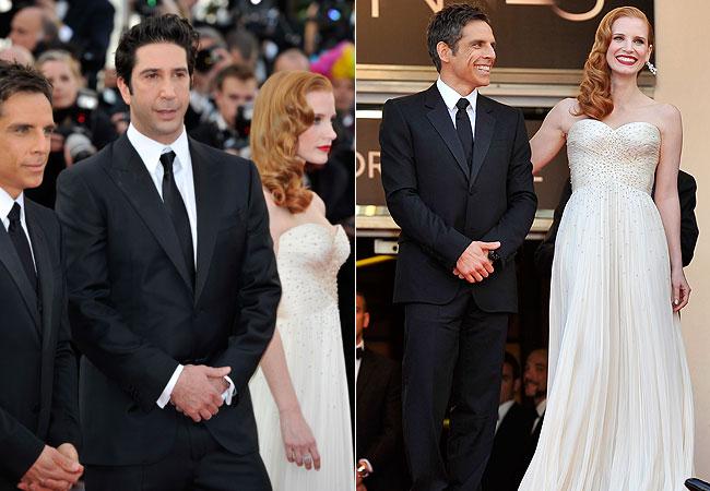 Ben Stiller, David Schwimmer e Jessica Chastain (Foto: Getty Images)