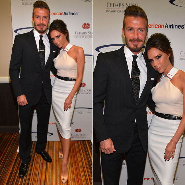 David Beckham e a mulher, Victoria (Foto: Getty Images)