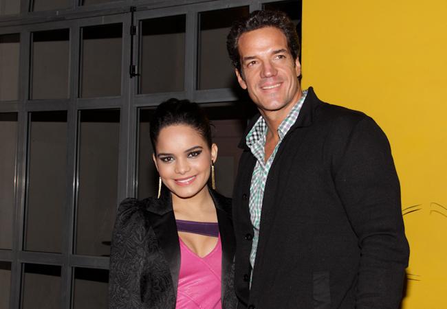 Carlos Machado e Carol Macedo (Foto: Milene Cardoso/AgNews)