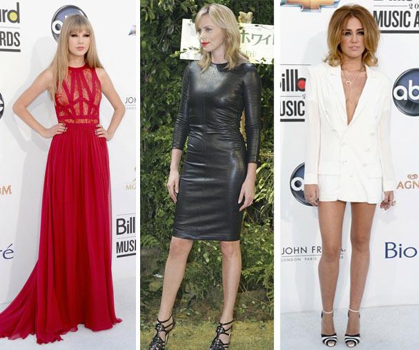 Taylor Swift, Charlize Theron e Miley Cyrus, sexy na medida certa (Foto: Reprodução)