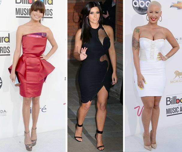 Chrissy Teigen, Kim Kardashian e Amber Rose erraram feio na escolha do look (Foto: Getty Images/Reprodução)