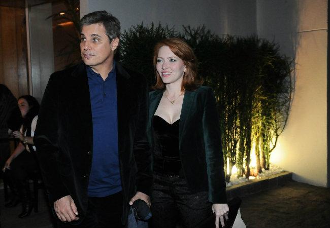 Edson Celulari e a namorada (Foto: Francisco Cepeda/AgNews)