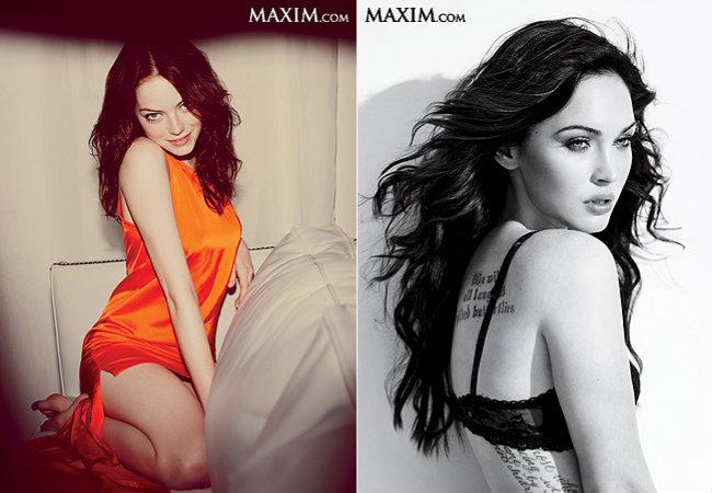Emma Stone (à esq.), em sétimo, e Megan Fox (à dir.), em oitavo (Foto: Reprodução)