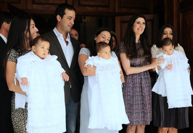 Isabella Fiorentino no batizado dos filhos (Foto: Francisco Cepeda/AgNews)