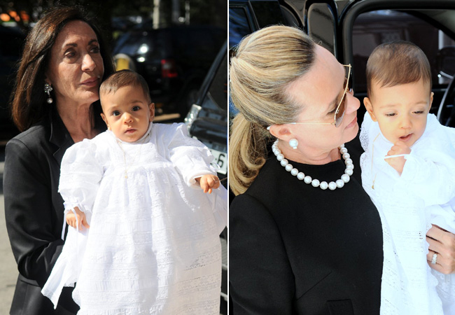 À esquerda Jane Fiorentino e Lorenzo. À direita Eliana Hawila e Bernardo (Foto: Francisco Cepeda/AgNews)