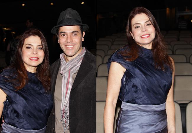 Françoise e Claudio Lins (Foto: Milene Cardoso/AgNews)