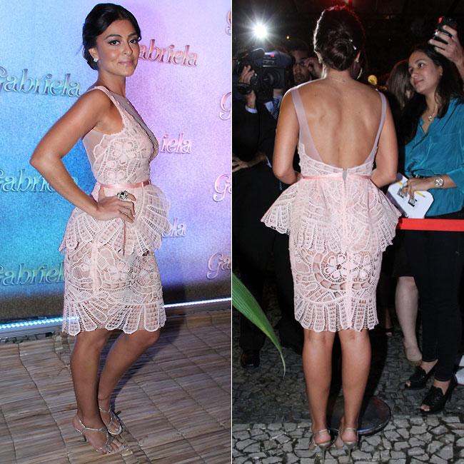Juliana Paes usou vestido da grife Martha Medeiros (Foto: Roberto Filho/AgNews)