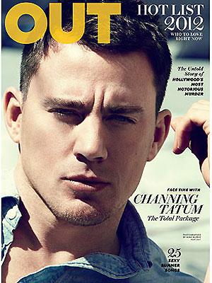 Channing Tatum na capa da revista Out  (Foto: Reprodução)