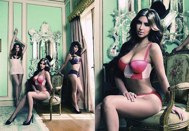 Kim, Kourtney e Kloe Kardashian em ensaio (Foto: SplashNews)