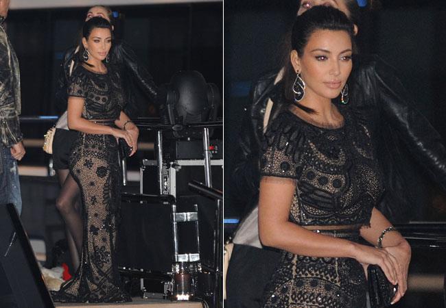 Kim Kardashian em festa que P.Diddy deu em um iate em Cannes (Foto: Splash News)