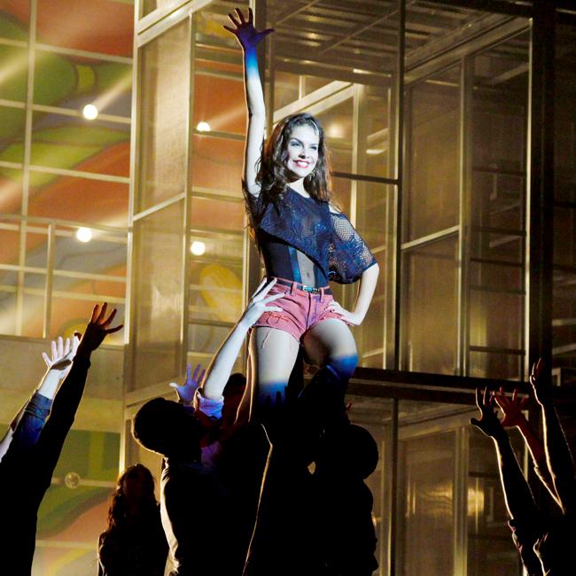 Paloma Bernardi durante a apresentação para a imprensa de