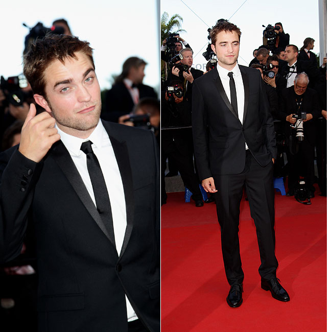 Robert Pattinson exibiu um visual elegante (Foto: Getty Images)