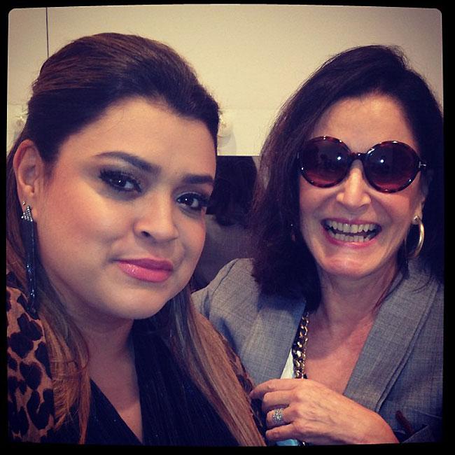 Preta tieta Gloria Kalil no Fashion Rio (Foto: Reprodução/Instagram)