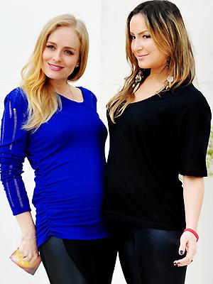 Claudia Leitte e Angélica: grávidas unidas (Foto: Divulgação/TV Globo)