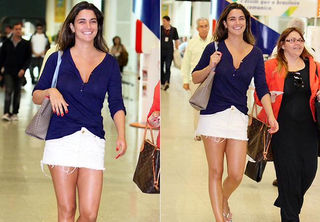 Laisa nesta quinta-feira (24) no aeroporto Santos Dumont (Foto: Leotty Jr./AgNews)