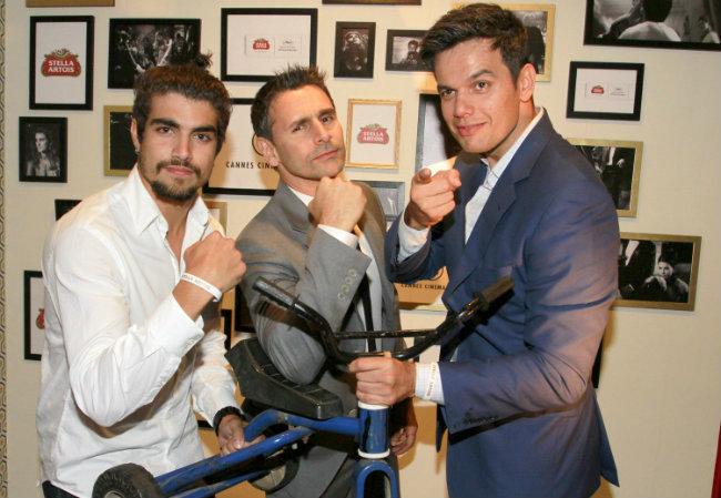 Caio Castro (à esq.), Murilo Rosa (centro) e Otaviano Costa (à dir.) fazem graça (Foto: Felipe Panfili/AgNews)