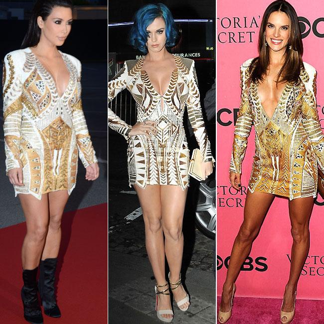 Kim Kardashian, Katy Perry e Alessandra Ambrosio (Foto: Getty Images)